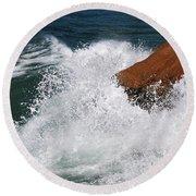 Wave Action Florianopolis Round Beach Towel