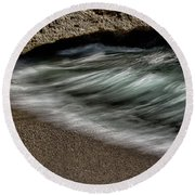 Wave Action Round Beach Towel