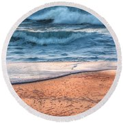 Wave After Wave Round Beach Towel