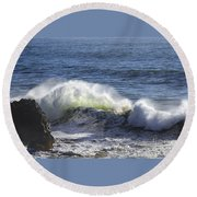 Wave Color Round Beach Towel