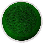 Wave Particle Duality II Round Beach Towel by Jason Padgett