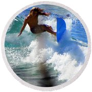 Wave Rider Round Beach Towel