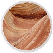 Wave Rock 3 At Coyote Buttes Round Beach Towel