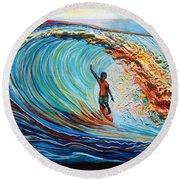 Wave Surfer Round Beach Towel