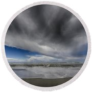 Wave Watcher Round Beach Towel