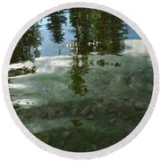 Wavering Reflections Round Beach Towel