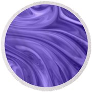 Waves 2 Round Beach Towel by Riad Belhimer