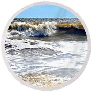 Waves At Tybee Round Beach Towel