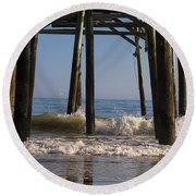 Waves Crash In Round Beach Towel