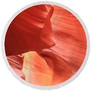 Waves Faces And Light Round Beach Towel