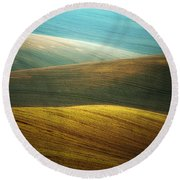 Waves Of Colours Round Beach Towel