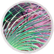 Waves Of Palm Round Beach Towel