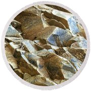 Waves Of Rock Round Beach Towel