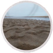 Waves Of Sand Round Beach Towel