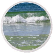 Waves Of The Gulf Of Mexico Round Beach Towel