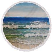 Waves Round Beach Towel