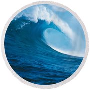 Waves Splashing In The Sea, Hawaii Round Beach Towel by Panoramic Images