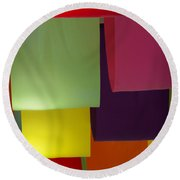 Waving The Color Round Beach Towel