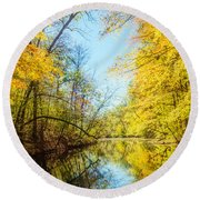 Waxen Autumn 1  Round Beach Towel