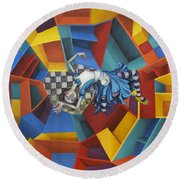 Way Down In The Hole Round Beach Towel by Kelly Jade King
