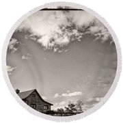Way Up In The Clouds Round Beach Towel