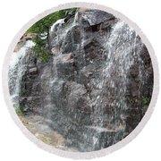 Wayside Waterfall - Acadia Np Round Beach Towel
