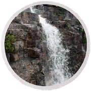 Wayside Waterfall I - Acadia Np Round Beach Towel
