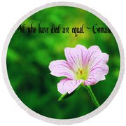 We Are Equal Round Beach Towel