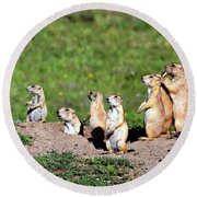 We Are Family Round Beach Towel