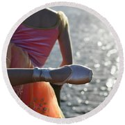 We Are Such Stuff As Dreams Are Made On Round Beach Towel