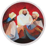 We Three Kings Round Beach Towel