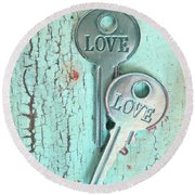 Weathered Love Round Beach Towel