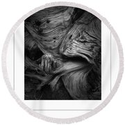 Weathered Poster Round Beach Towel