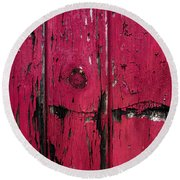 Weathered Red Round Beach Towel