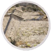 Weathered Remains Round Beach Towel