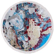 Weathered Wall 02 Round Beach Towel