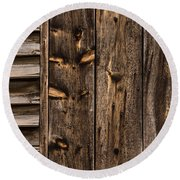 Weathered Wooden Abstracts - 3 Round Beach Towel