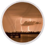 Weaver Park Lightning Round Beach Towel