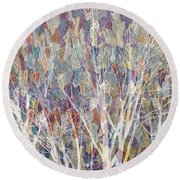 Web Of Branches Round Beach Towel