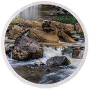 Webster Falls Round Beach Towel by Garvin Hunter