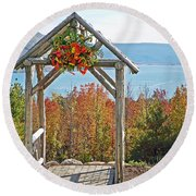 Wedding Gazebo Round Beach Towel