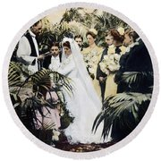 Wedding Party, 1900 Round Beach Towel