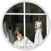 Wedding Shop In Tbilisi Round Beach Towel