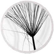 Weed By The Lake Round Beach Towel