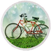 Weekender Special Round Beach Towel by Laura Fasulo
