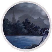 Weeping Angle Round Beach Towel