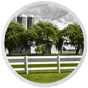 Weeping Willow Green Round Beach Towel