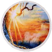 Weeping Willow Sighs Round Beach Towel