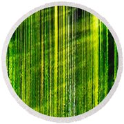 Weeping Willow Tree Ribbons Round Beach Towel