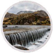 Weir At Ogwen Round Beach Towel